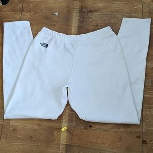 The North face white fleece pants underwear  M